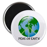Peace Peas on Earth Christmas Magnet