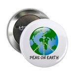 "Peace Peas on Earth Christmas 2.25"" Button (100 pa"