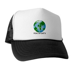 Peace Peas on Earth Christmas Trucker Hat
