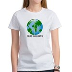 Peace Peas on Earth Christmas Women's T-Shirt