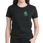 Peace Peas on Earth Christmas Women's Dark T-Shirt