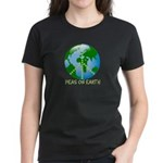 Peace Peas on Earth Christmas Women's Dark T-Shirt