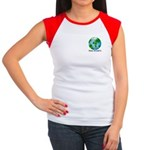 Peace Peas on Earth Christmas Women's Cap Sleeve T