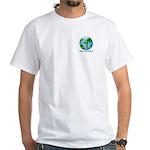 Peace Peas on Earth Christmas White T-Shirt