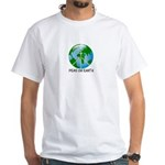 Peace Peas on Earth Christmas White T-Shirt