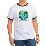 Peace Peas on Earth Christmas Ringer T