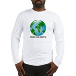 Peace Peas on Earth Christmas Long Sleeve T-Shirt
