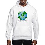 Peace Peas on Earth Christmas Hooded Sweatshirt