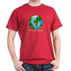 Peace Peas on Earth Christmas T-Shirt