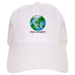Peace Peas on Earth Christmas Baseball Cap