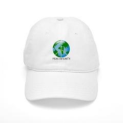 Peace Peas on Earth Christmas Baseball Cap