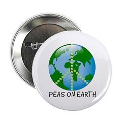 Peace Peas on Earth Christmas Button
