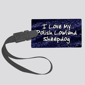 polish_funklove_oval Large Luggage Tag