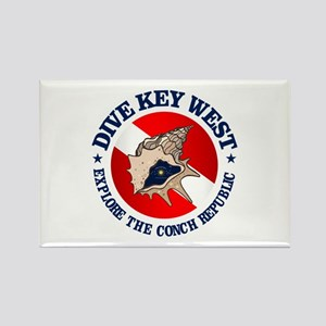 Dive Key West (rd) Rectangle Magnet