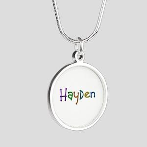 Hayden Play Clay Silver Round Necklace