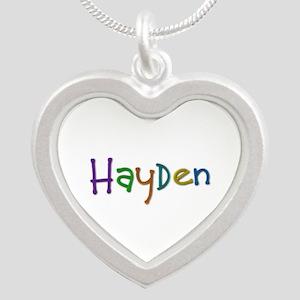 Hayden Play Clay Silver Heart Necklace