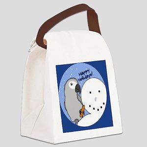 snowman_congo Canvas Lunch Bag