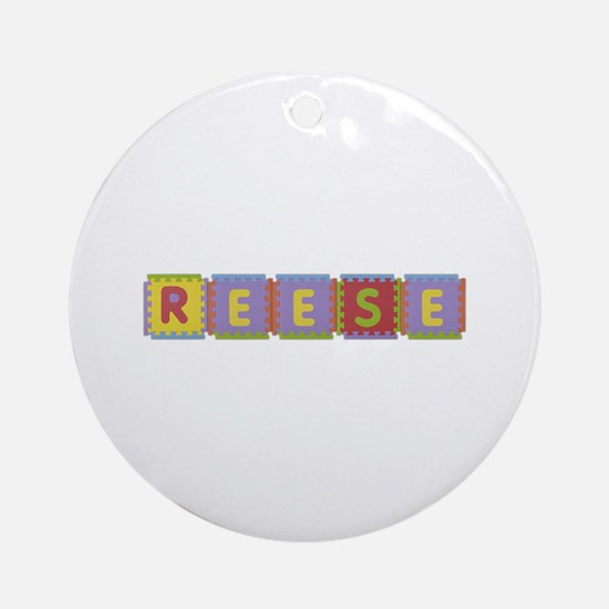 Reese Foam Squares Round Ornament