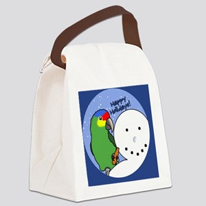 snowman_redlored Canvas Lunch Bag