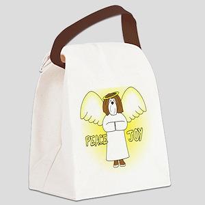 peacejoy_havanese_chocolate Canvas Lunch Bag