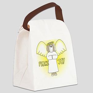 peacejoy_havanese_red Canvas Lunch Bag