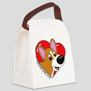 heartcorgi Canvas Lunch Bag