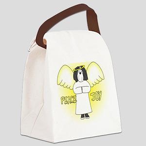 peacejoy_havanese_black Canvas Lunch Bag