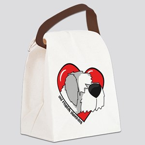 heartoldenglish_oval Canvas Lunch Bag
