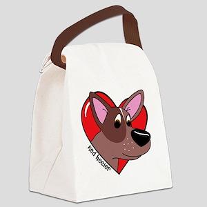 heartredheeler Canvas Lunch Bag