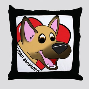 heartgermanshep Throw Pillow