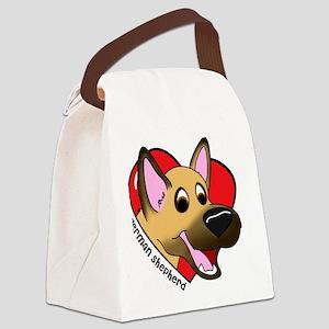 heartgermanshep Canvas Lunch Bag