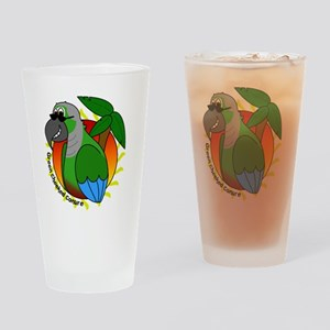 cartoon_greencheek Drinking Glass