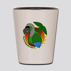 cartoon_greencheek Shot Glass