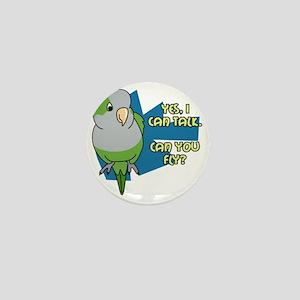 quaker_talk_blk Mini Button