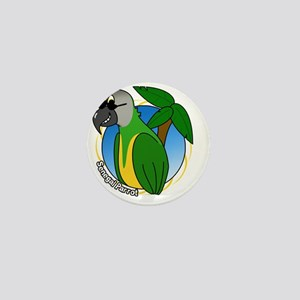 cartoon_senegal_blk Mini Button