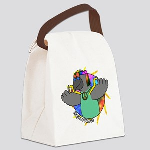 hippie_meyers_blk Canvas Lunch Bag