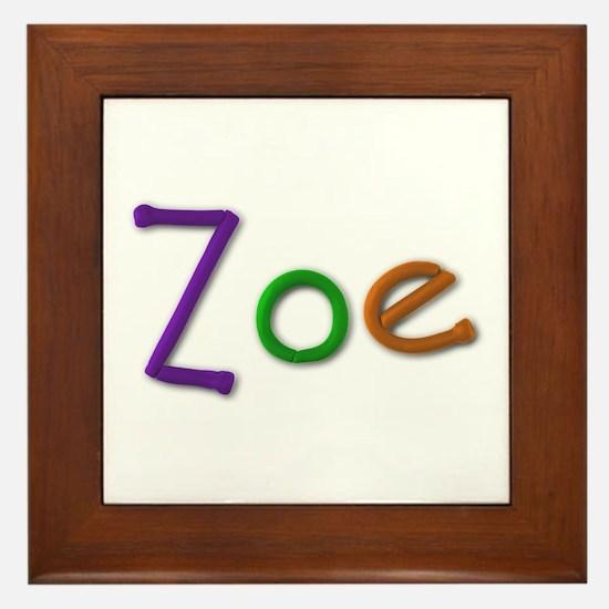 Zoe Play Clay Framed Tile