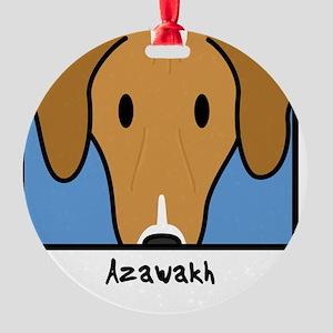 anime_azawakh Round Ornament