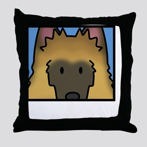 anime_belgiantervuren_blk Throw Pillow