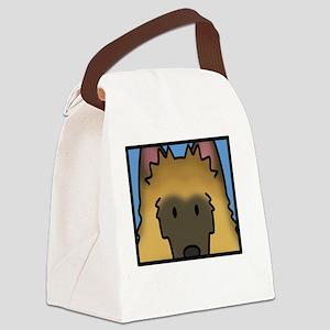 anime_belgiantervuren_blk Canvas Lunch Bag