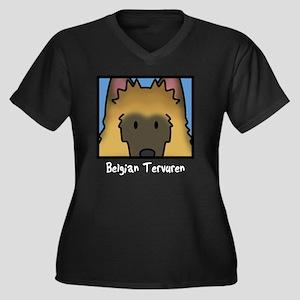 anime_belgia Women's Plus Size Dark V-Neck T-Shirt