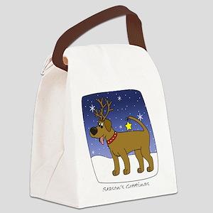 xmaslab_chocolate Canvas Lunch Bag