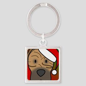 anime_canarydog_ornament Square Keychain
