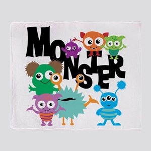Monsters Throw Blanket
