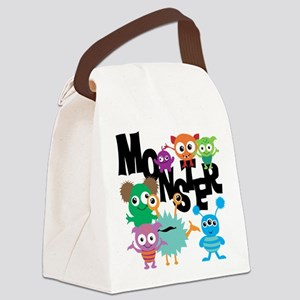 Monsters Canvas Lunch Bag