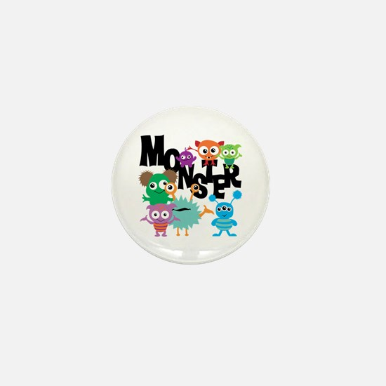 Monsters Mini Button
