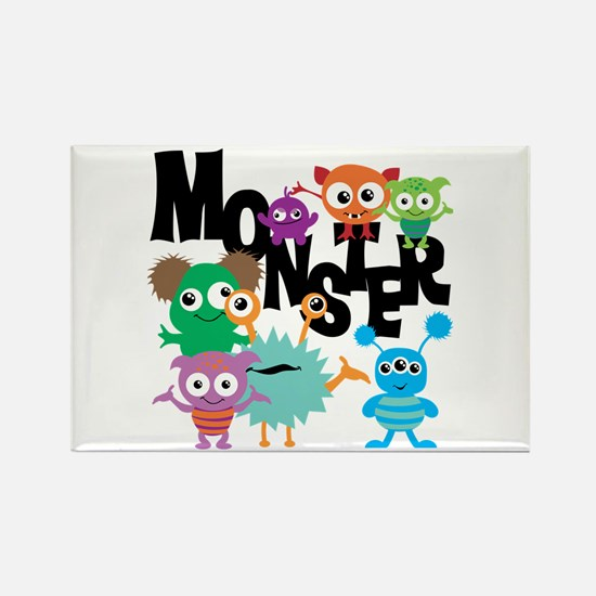 Monsters Rectangle Magnet