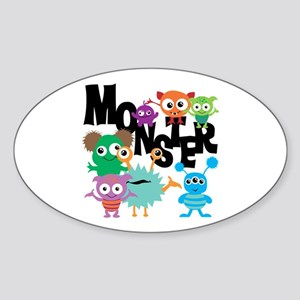Monsters Sticker (Oval)