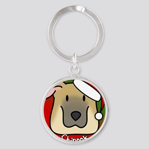 anime_chinook_ornament Round Keychain