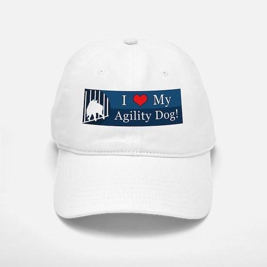 loveagilitydog_blue Baseball Baseball Cap